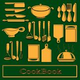 Recipe book. Vector template Stock Image