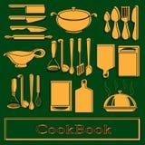 Recipe book. Vector template Stock Image