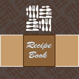 Recipe book. Vector template Stock Images