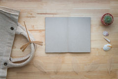 Recipe book. The book on the wood table, look nature royalty free stock photos