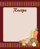 Recipe card Royalty Free Stock Photos