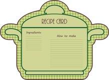 Recipe card Royalty Free Stock Photo