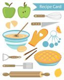 Recipe card royalty free illustration