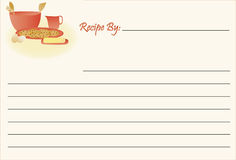 Recipe Card - Cookies Royalty Free Stock Images