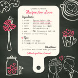 Recipe card creative Wedding Invitation design with cooking concept Royalty Free Stock Images