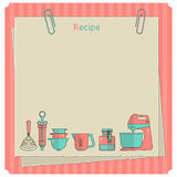 Recipe card. Kitchen note template Royalty Free Stock Photos