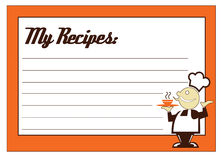 Recipe Card Royalty Free Stock Images
