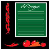 Recipe card with vegetables Royalty Free Stock Images