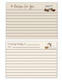 Recipe Cards Stock Photo