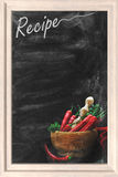 Recipe chalkboard Stock Photography