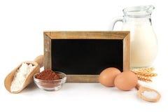 Recipe for chocolate cake Stock Photos