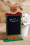 Recipe. Christmas recipe board on the table Stock Photos