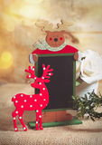Recipe. Christmas recipe board on the table Royalty Free Stock Image