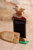 Recipe. Christmas recipe board on the table Royalty Free Stock Photography