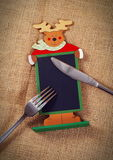 Recipe. Christmas recipe board on the table Royalty Free Stock Images