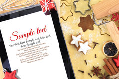 Recipe for Christmas Stock Image