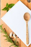 Recipe concept Stock Photography