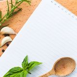 Recipe concept Royalty Free Stock Image