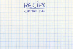 Recipe of the day background Stock Image