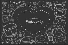Recipe Easter cake stock illustration