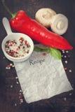 Recipe. Stock Image