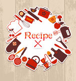 Recipe illustration. Stock Photos
