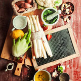 Recipe Ingredients For A Healthy Vegetarian Meal Royalty Free Stock Images