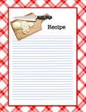 Recipe Layout stock photo