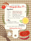 Recipe for Love creative Wedding Invitation Royalty Free Stock Photography