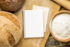 Recipe and menu background. Stock Image