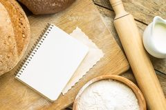 Recipe and menu background. Stock Photography