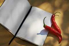 Recipe Notebook Stock Photography