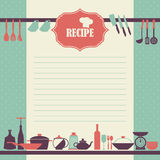 Recipe page design. Vintage style cooking book page. Vector Recipe page design. Vintage style cooking book page Royalty Free Stock Photography