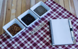 Recipe-Pepper Variety-Blank Notebook Page Stock Image