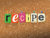 Recipe Pinned Paper Concept Illustration Royalty Free Stock Photos