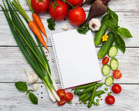 Recipe planning concept Royalty Free Stock Images