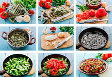 Recipe preparation step by step food Royalty Free Stock Photos