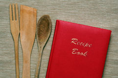 Recipe red book Royalty Free Stock Photo