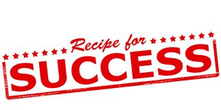 Recipe for success Stock Image