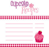 Recipe Template. Vector illustration of cupcake recipe template Stock Images