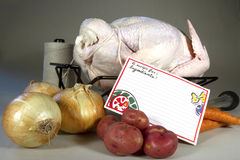 Recipe to Prep Turkey Royalty Free Stock Image