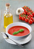 Recipe of tomato soup Stock Image