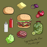 RecipeHamburger Foto de archivo