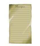Recipes. Recipe paper Stock Photos
