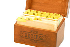 Recipes and Box Royalty Free Stock Photography