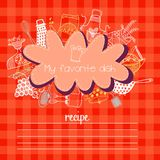 Recipes concept card Stock Image