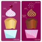 Recipes cream sundae cupcake Royalty Free Stock Photo