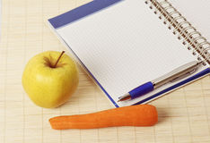 Recipes for a diet Stock Images