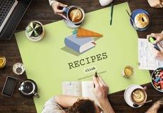 Recipes Food Menu Cafe Restaurant Concept Stock Photos