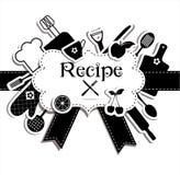 Recipes illustration Stock Image
